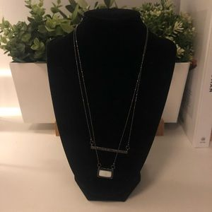 Charcoal Double Layer Bar Necklace